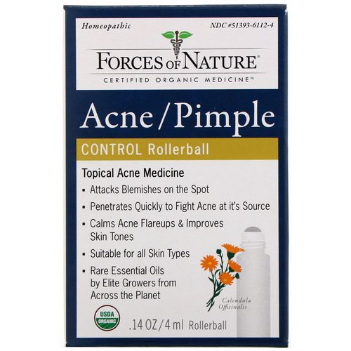 Forces of Nature, Acne/Pimple Control, Rollerball, 0.14 oz (4 ml) Review