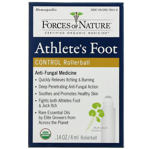 Forces of Nature, Athlete's Foot Control, Rollerball, .14 oz (4 ml) Review