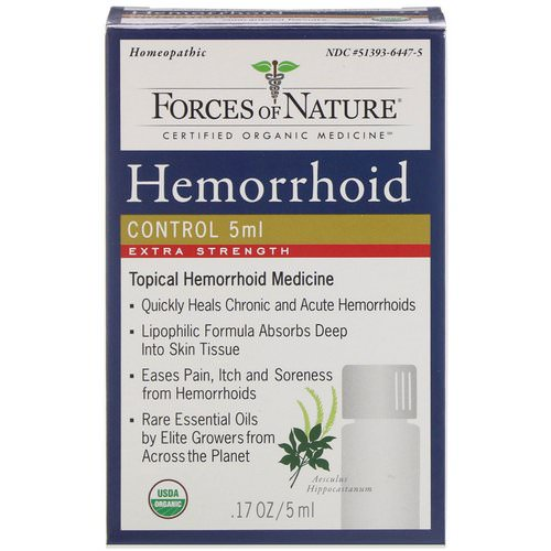 Forces of Nature, Hemorrhoid Control, Extra Strength, 0.17 oz (5 ml) Review