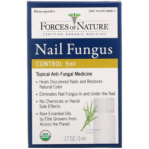 Forces of Nature, Nail Fungus Control, 0.17 oz (5 ml) Review