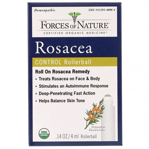 Forces of Nature, Rosacea Control, Rollerball, 0.14 oz (4 ml) Review