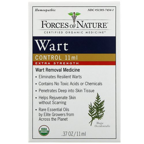 Forces of Nature, Wart Control, Extra Strength, 0.37 oz (11 ml) Review