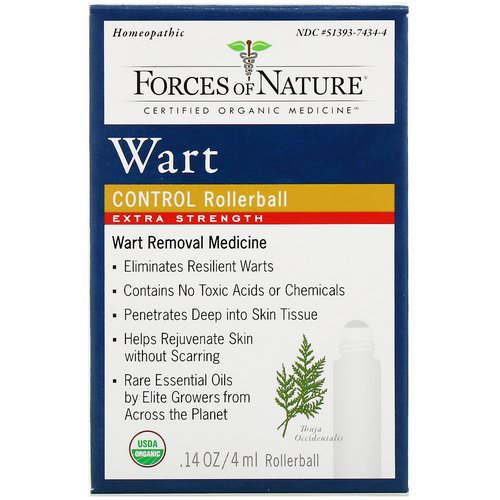 Forces of Nature, Wart Control, Extra Strength, Rollerball, 0.14 oz (4 ml) Review