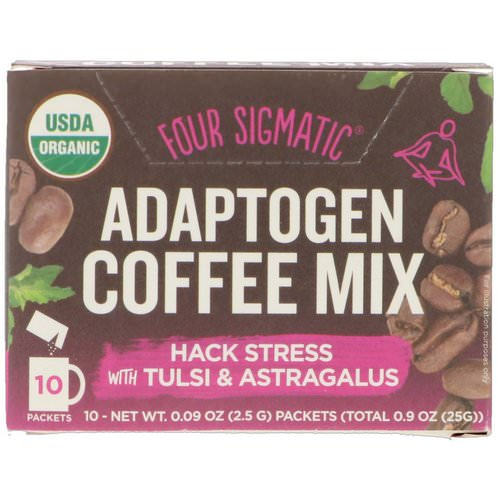 Four Sigmatic, Adaptogen Coffee Mix, Light + Cinnamon, 10 Packets, 0.09 oz (2.5 g) Each Review