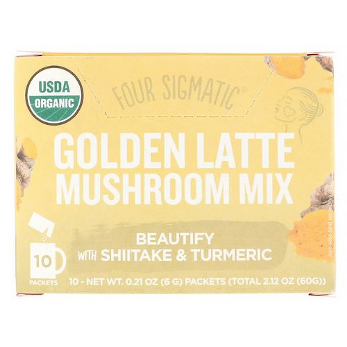 Four Sigmatic, Golden Latte, Mushroom Mix, 10 Packets, 0.21 oz (6 g) Each Review
