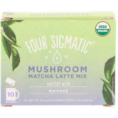 Four Sigmatic, Mushroom Matcha Latte Mix, 10 Packets, 0.21 oz (6 g) Each Review