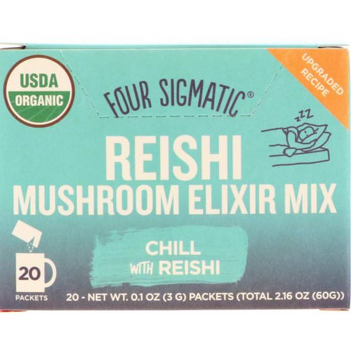 Four Sigmatic, Reishi, Mushroom Elixir Mix, 20 Packets, 0.1 oz (3 g) Each Review