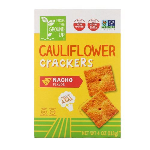 From The Ground Up, Cauliflower Crackers, Nacho, 4 oz (113 g) Review