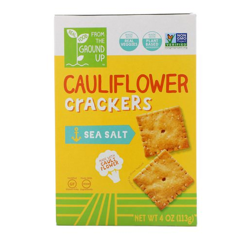 From The Ground Up, Cauliflower Crackers, Sea Salt, 4 oz (113 g) Review