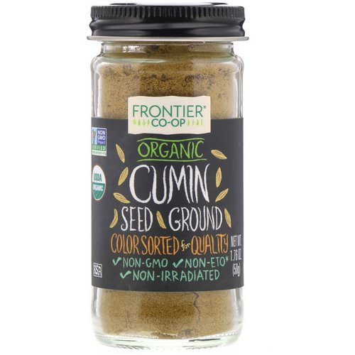Frontier Natural Products, Organic Cumin Seed, Ground, 1.76 oz (50 g) Review