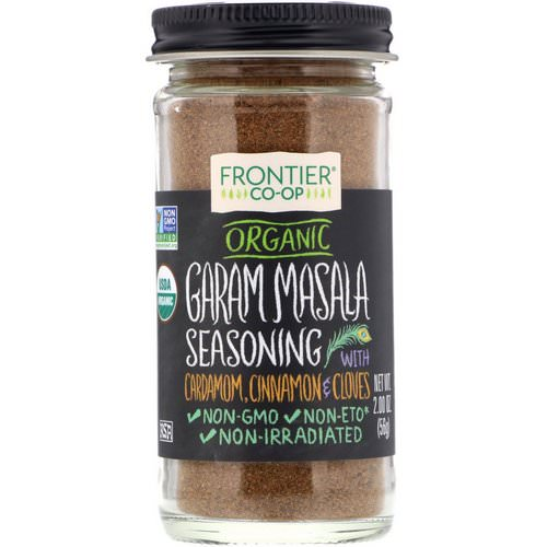 Frontier Natural Products, Organic Garam Masala Seasoning with Cardamon, Cinnamon & Cloves, 2.00 oz (56 g) Review