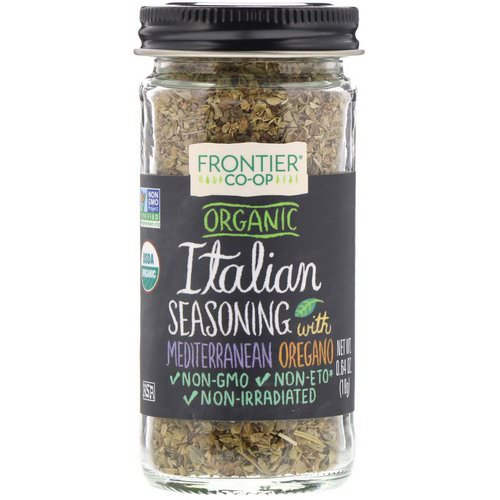 Frontier Natural Products, Organic Italian Seasoning with Mediterranean Oregano, 0.64 oz (18 g) Review
