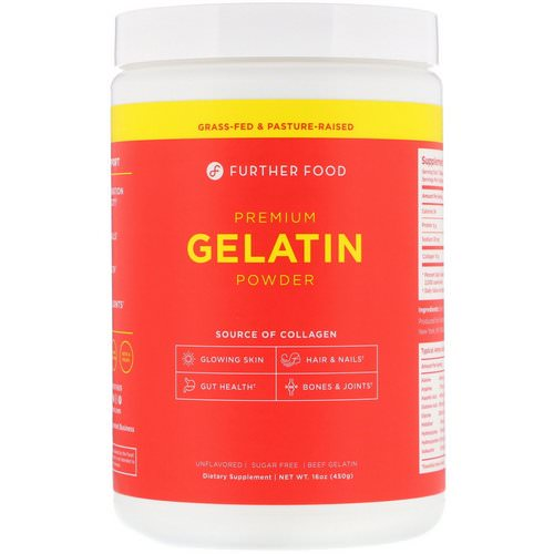 Further Food, Premium Gelatin Powder, Unflavored, 16 oz (450 g) Review