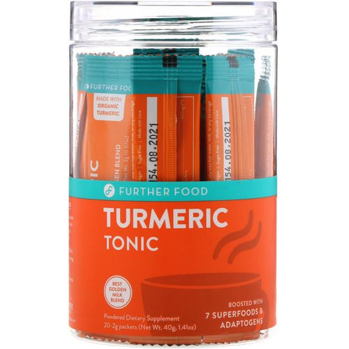 Further Food, Turmeric Tonic, 20 Packets, 0.07 oz oz (2 g) Each Review