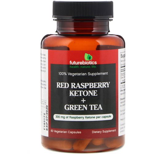 FutureBiotics, Red Raspberry Ketone + Green Tea, 60 Vegetarian Capsules Review