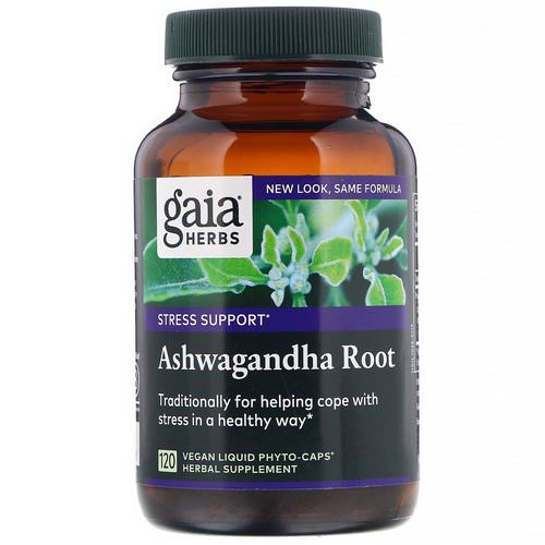 Gaia Herbs, Ashwagandha Root, 120 Vegan Liquid Phyto-Caps Review