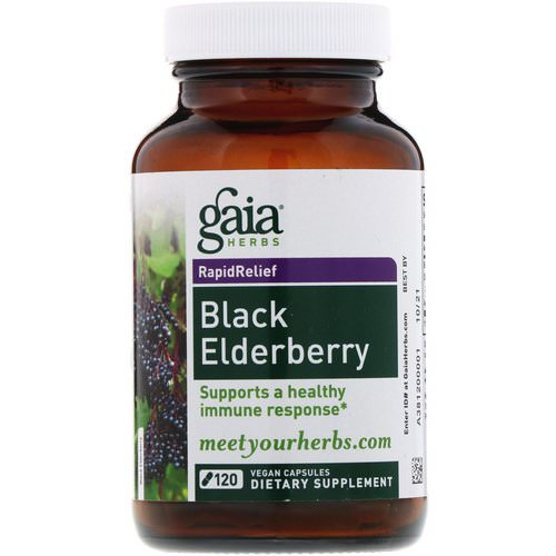Gaia Herbs, Black Elderberry, 120 Vegan Capsules Review