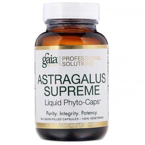 Gaia Herbs Professional Solutions, Astragalus Supreme, 60 Liquid-Filled Capsules Review