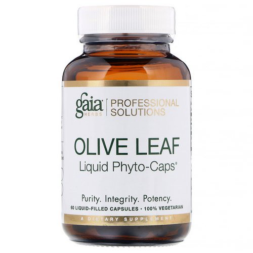 Gaia Herbs Professional Solutions, Olive Leaf, 60 Liquid-Filled Capsules Review