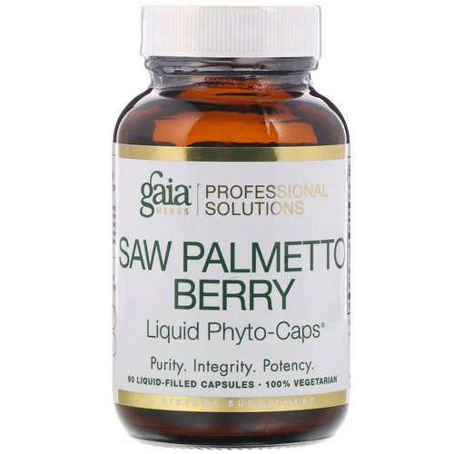 Gaia Herbs Professional Solutions, Saw Palmetto Berry, 60 Liquid-Filled Capsules Review
