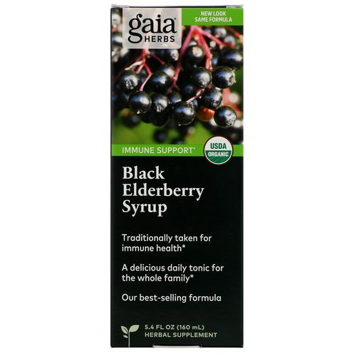 Gaia Herbs, Black Elderberry Syrup, 5.4 fl oz (160 ml) Review