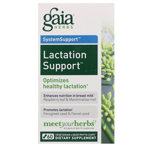 Gaia Herbs, SystemSupport, Lactation Support, 60 Vegetarian Liquid Phyto-Caps Review