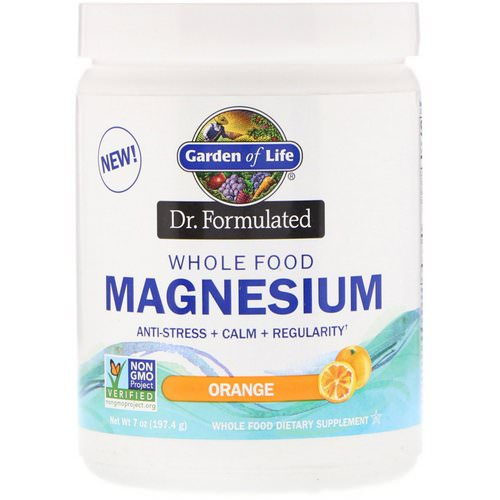 Garden of Life, Dr. Formulated, Whole Food Magnesium Powder, Orange, 7 oz (197.4 g) Review