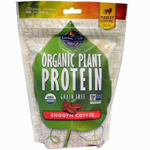 Garden of Life, Organic Plant Protein, Grain Free, Smooth Coffee, 9 oz (260 g) Review