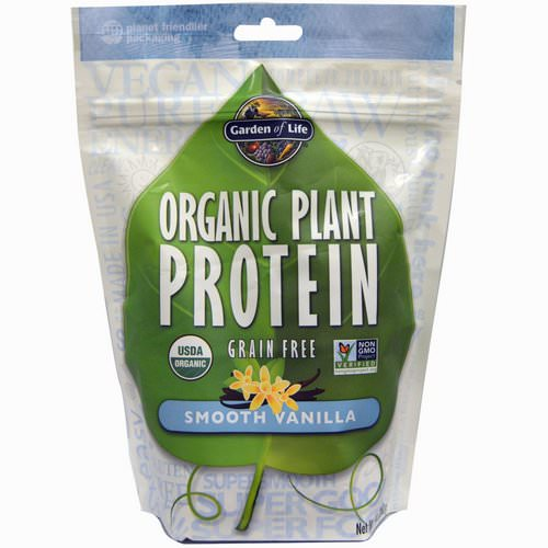 Garden of Life, Organic Plant Protein, Grain Free, Smooth Vanilla, 9 oz (260 g) Review