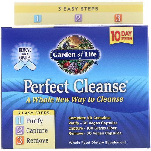 Garden of Life, Perfect Cleanse, 3 Easy Steps Kit Review