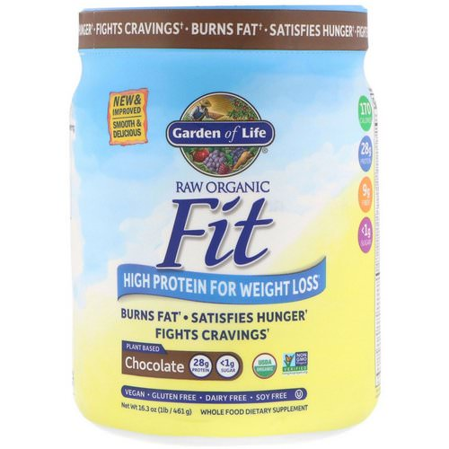 Garden of Life, RAW Organic Fit, High Protein for Weight Loss, Chocolate, 16.3 oz (461 g) Review