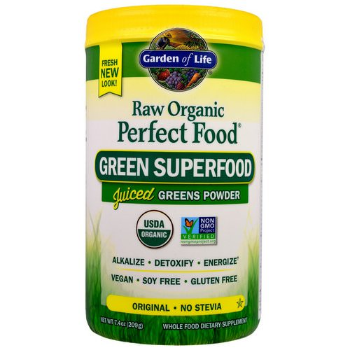 Garden of Life, Raw Organic Perfect Food, Green Superfood, Original, 7.4 oz (209 g) Review