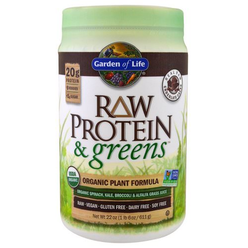 Garden of Life, Raw Protein & Greens, Organic Plant Formula, Real Raw Chocolate Cacao, 1.4 lbs (611 g) Review