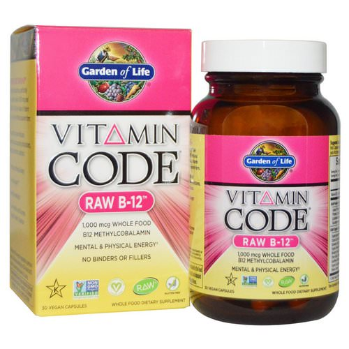 Garden of Life, Vitamin Code, Raw B-12, 30 Vegan Caps Review