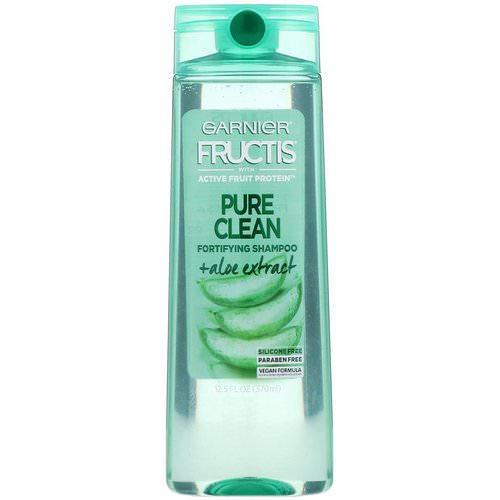 Garnier, Fructis, Pure Clean, Fortifying Shampoo with Aloe, 12.5 fl oz (370 ml) Review