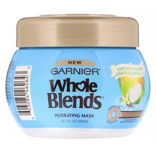 Garnier, Whole Blends, Hydrating Mask, Coconut Water & Vanilla Milk, 10.1 fl oz (300 ml) Review