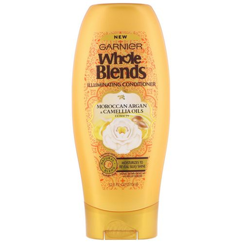 Garnier, Whole Blends, Illuminating Conditioner, Moroccan Argan & Camellia Oils Extracts, 12.5 fl oz (370 ml) Review