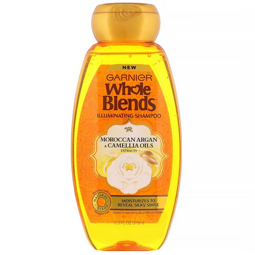 Garnier, Whole Blends, Illuminating Shampoo, Moroccan Argan & Camellia Oils Extracts, 12.5 fl oz (370 ml) Review