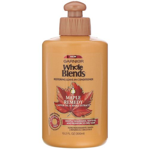 Garnier, Whole Blends, Restoring Leave-In Conditioner, Maple Remedy, 10.2 fl oz (300 ml) Review