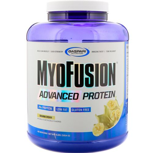 Gaspari Nutrition, MyoFusion, Advanced Protein, Banana Cream, 4 lbs (1814 g) Review
