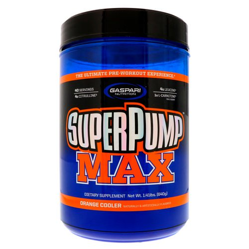 Gaspari Nutrition, SuperPump Max, The Ultimate Pre-Workout Supplement, Refreshing Orange, 1.41 lbs (640 g) Review