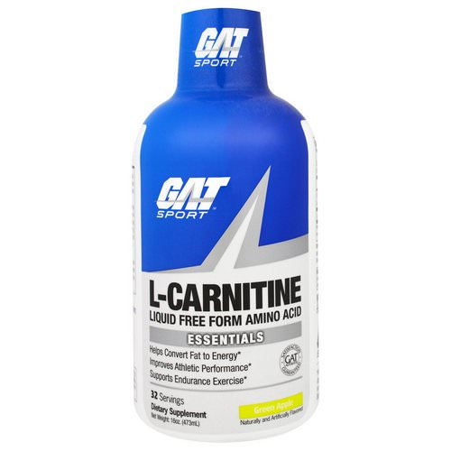 GAT, L-Carnitine, Liquid Free Form Amino Acid, Green Apple, 16 oz (473 ml) Review
