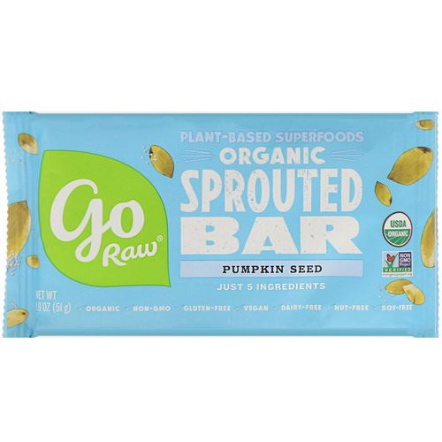 Go Raw, Organic, Pumpkin Seed Sprouted Bar, 1.8 oz (51 g) Review