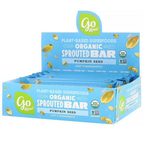Go Raw, Organic Sprouted Bar, Pumpkin Seed, 10 Bars, 0.5 oz (13 g) Each Review