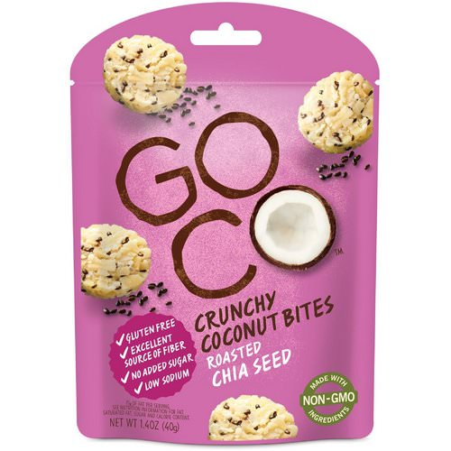 GoCo, Crunchy Coconut Bites, Roasted Chia Seed, 1.4 oz (40 g) Review