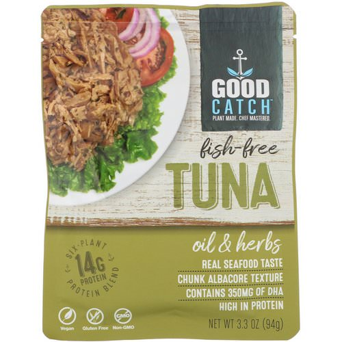 Good Catch, Fish-Free Tuna, Oil & Herbs, 3.3 oz (94 g) Review