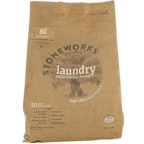 Grab Green, Stoneworks, Laundry Detergent Pods, Oak Tree, 50 Loads, 1.65 lbs (750 g) Review