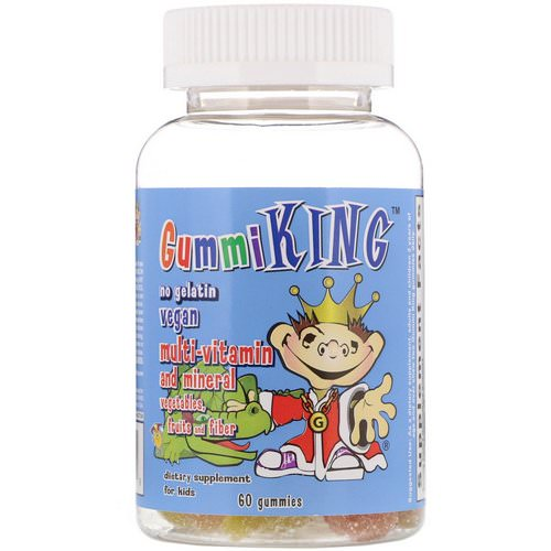 GummiKing, Multi-Vitamin and Mineral, Vegetables, Fruits and Fiber, For Kids, 60 Gummies Review