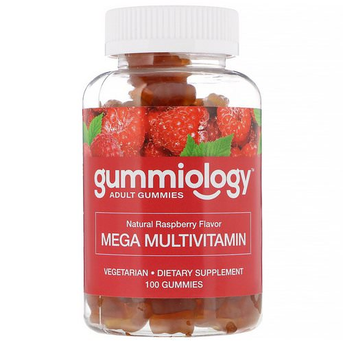 Gummiology, Adult Mega Multivitamins Gummies, Natural Raspberry Flavor, 100 Vegetarian Gummies Review