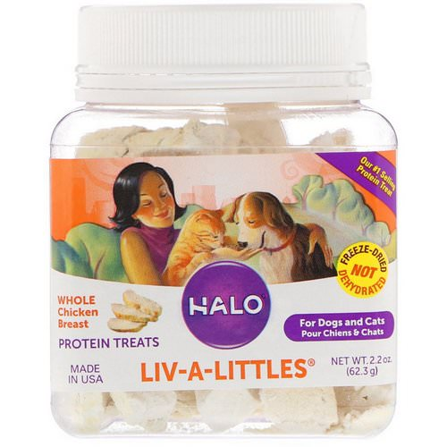 Halo, Liv-A-Littles, Protein Treats, Whole Chicken Breast, For Dogs & Cats, 2.2 oz (62.3 g) Review